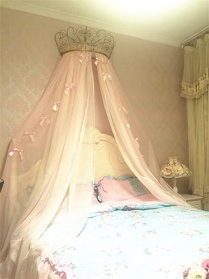 Amazon.com: Lotus Karen Princess Bed Canopy Chiffon Girls Bed ...