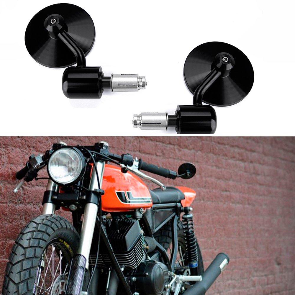 Moto Universale 7//8 22MM Manubrio Specchietti Retrovisori Specchio Rotondo per Scooter