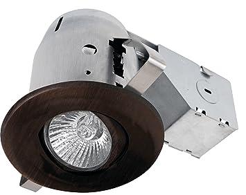 Globe Electric 3u0026quot; Swivel Spotlight Recessed Lighting Kit Dimmable Downlight Oil Rubbed Bronze Finish  sc 1 st  Amazon.com & Amazon.com: Globe Electric 3