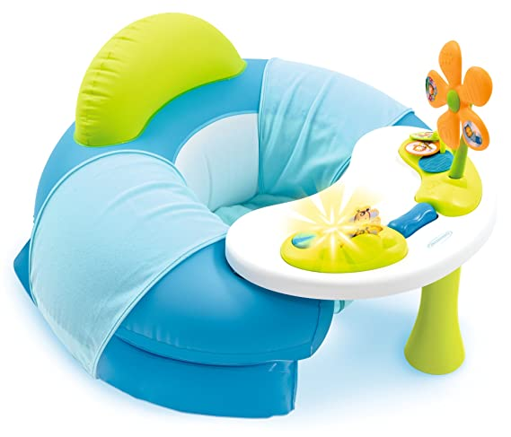 SMOBY 110210 - Cotoons Baby Asiento con Activity mesa, color azul: Amazon.es: Bebé