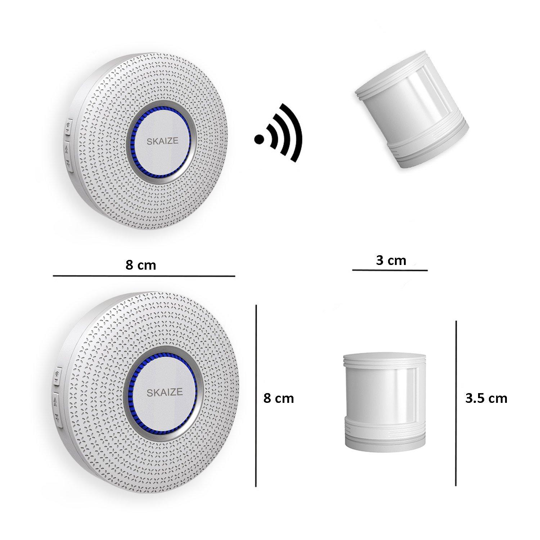 Skaize movimiento Sensor de entrada por receptor (ampliable, gran alcance): Amazon.es: Bricolaje y herramientas