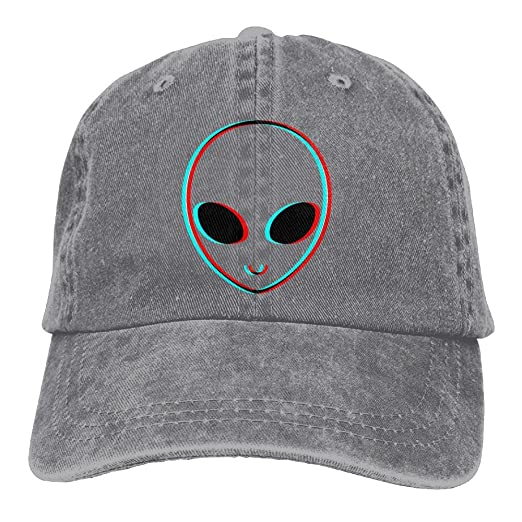 8bbe4d7548c Image Unavailable. Image not available for. Color  SHENQINGWENEN Trippy  Alien Adult Dad Hat Baseball Hat Vintage Washed Distressed Cap