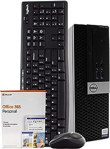 Dell OptiPlex 3040 PC Desktop Computer, Intel Quad Core i5-6500, 8GB RAM, 1TB HDD, Windows 10 Pro, Microsoft Office 365 Personal, New 16GB Flash Drive, Wireless Keyboard & Mouse, DVD, WiFi (Renewed)