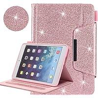 Nuevo iPad 9.7 2018 2017/iPad Air 2/iPad Air/iPad Pro 9.7 Funda, Brillante Premium Cuero Folio Inteligente Carcasa [Auto-Sueño/Estela] para Apple iPad 9.7 2018 2017/Air 2/Air/Pro 9.7 2016,Rosado