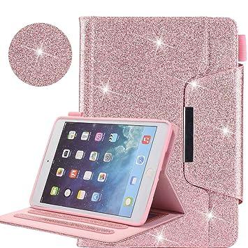 iPad 9.7 2018 2017/iPad Air 2/iPad Air/iPad Pro 9.7 Funda, Empresarial Brillante Cuero Folio Inteligente Carcasa [Auto-Sueño/Estela] para Apple iPad ...