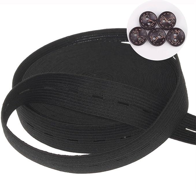 Boutonnière élastique boutonnière ceinture 2 cm.  Amazon.fr  Cuisine    Maison f3b66c67314f