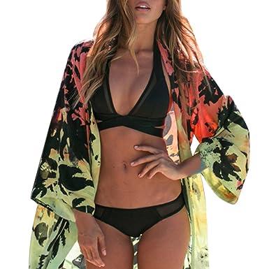 Chaqueta Cover De Coco Verano Bikini Kimono Chiffon Traje Up Qhdz YnESqBRwx