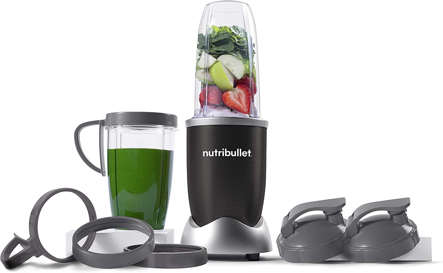 NutriBullet NB9-1301K Pro 13 Pcs Onyx Black, 900W (Renewed)