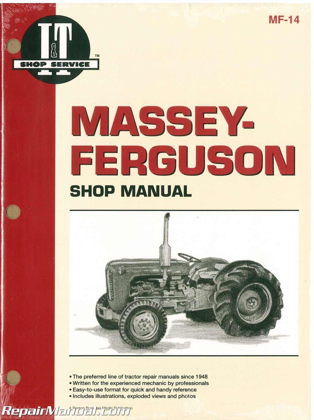 MF-14 Massey-Ferguson F40, MF202, MF204, MF35, MF35 Diesel, MF50, MH50,  MHF202, TO35, TO35 Diesel Tractor Workshop Manual: Manufacturer:  Amazon.com: Books