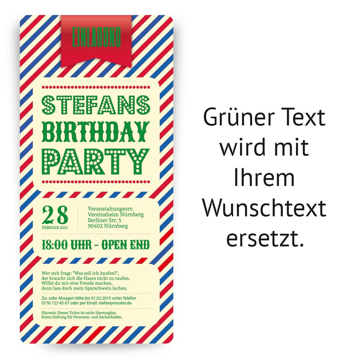 Einladungskarten Zum Geburtstag (10 Stück) Als Zirkus Ticket Eintrittskarte  Clown Jahrmarkt: Amazon.de: Bürobedarf U0026 Schreibwaren