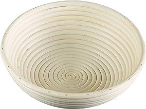 Frieling USA Brotform Round Bread Rising Basket, 10-Inch