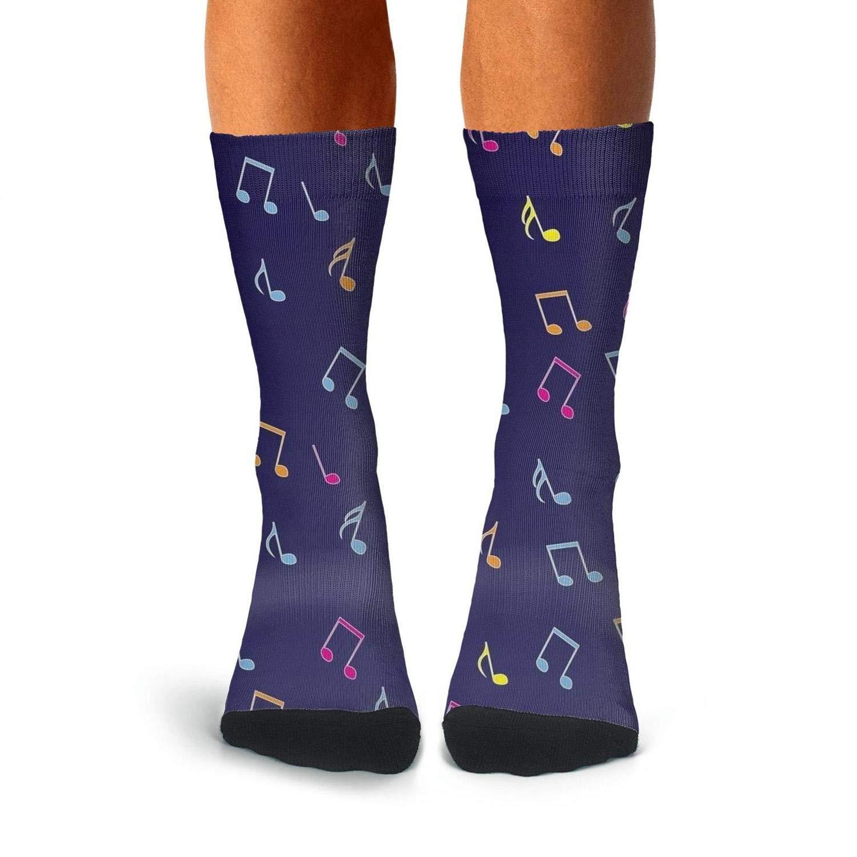 KCOSSH music note Crazy Crew Sock Moisture Calf Socks for Men