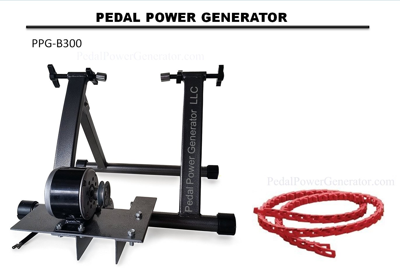 Pedal Power Bicycle Generator Emergency Backup Wiring Up A Portable To Your House System 300 Watts 12 Volts Direct Current Crank Garden Outdoor