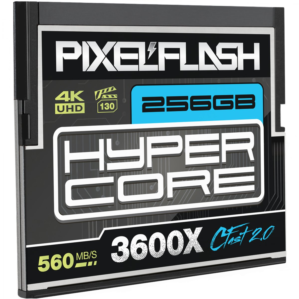 256GB PixelFlash HyperCore CFast 2.0 Memory Card 3600X up to 560MB/s SATA3 C Fast for Phase One Leica Alexa Mini Canon Nikon Hasselblad Blackmagic Ursa and More