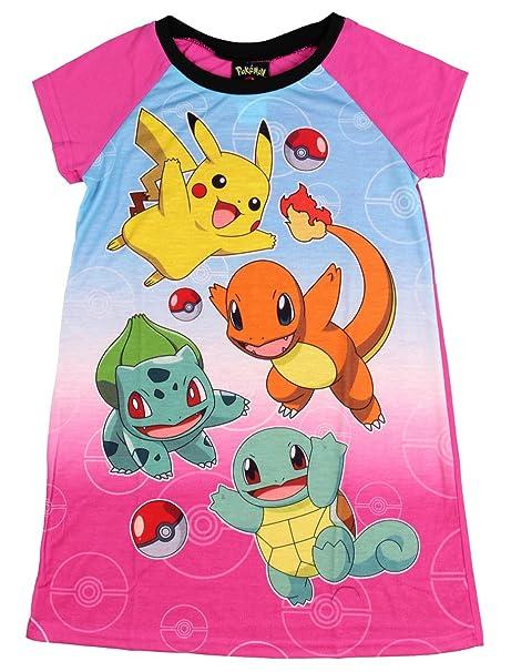 amazon com nintendo pokemon pika pika nightgown for little girls 4