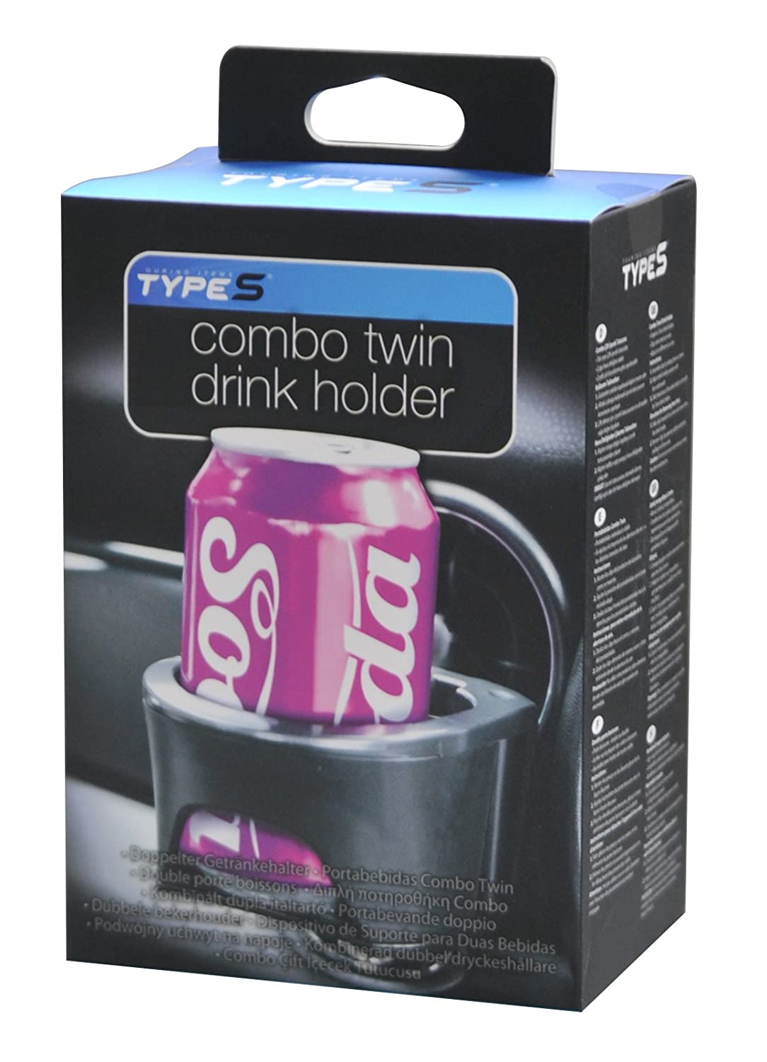 Type S DH53171 Combo Twin Drink Holder Black