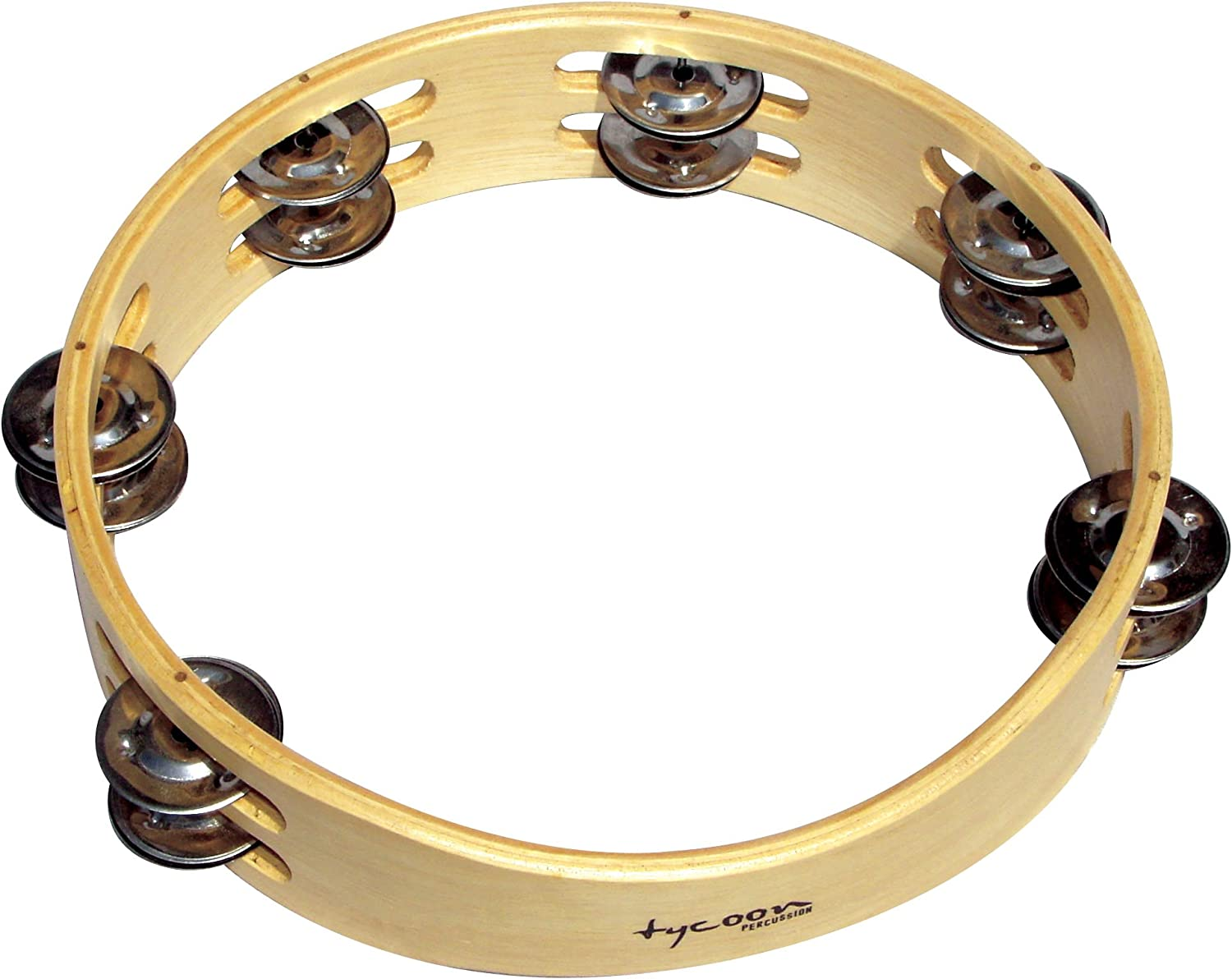 Tycoon Percussion Wooden Moon Tambourine