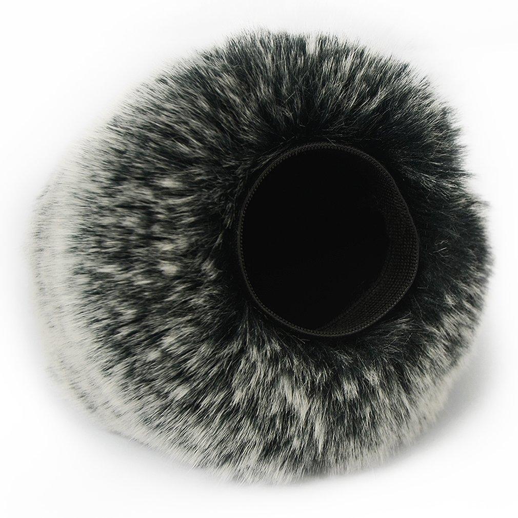 Mini treppiede TM-DM-DR22WL-C01TZ3 Nero Microfono Parabrezza Copertura Antivento Shell Cuffia Antivento in Pelliccia Sintetica per Microfoni a Fucile per Tascam DR-22WL DR22 WL con pezza per pulire