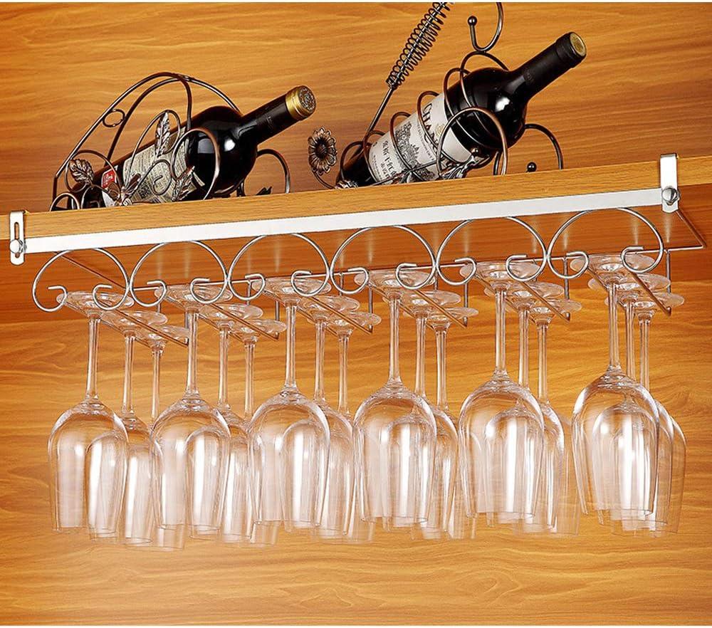 HOMIXES Gl/äserhalter Gl/äserschiene Eisen Weinglashalterung Hangers Rack Stielgl/äser Halter mit Schrauben f/ür Bar Zuhause Cafe