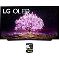 LG OLED48C1PUB 48 Inch 4K Smart OLED TV 2021 Model Bundle with Premium 2 Year Extended Protection Plan