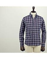 SWEEP!! スウィープ!! メンズ コットン チェック柄 ボタンダウンシャツ Traditional Check (ネイビー)