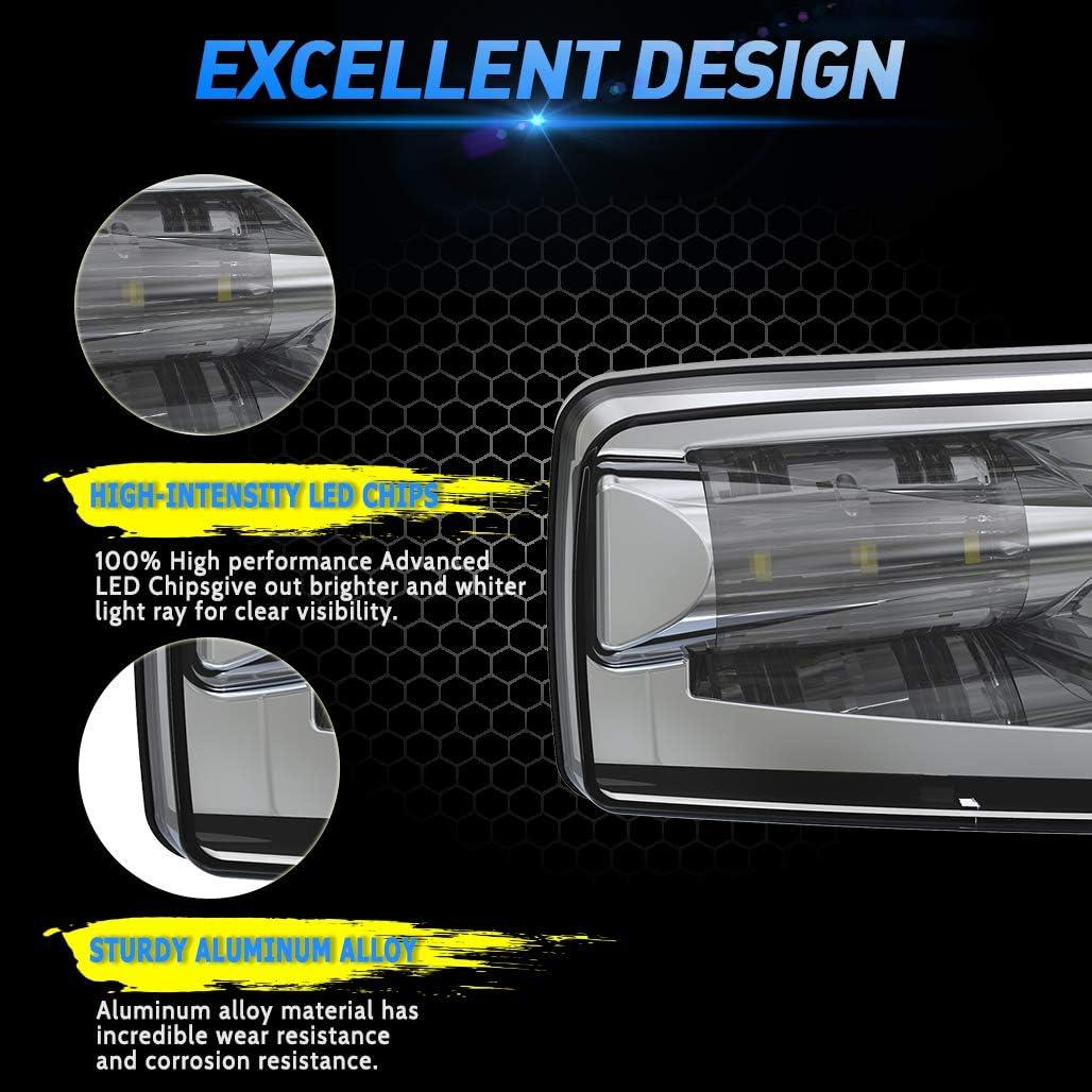 Black 2pcs Z-OFFROAD New Version LED Fog Lights 5202 Bumper Driving Lamps for Chevy Silverado 2007-2014 Tahoe Suburban 2007-2013 Avalanche GMC Sierra//Yukon Truck