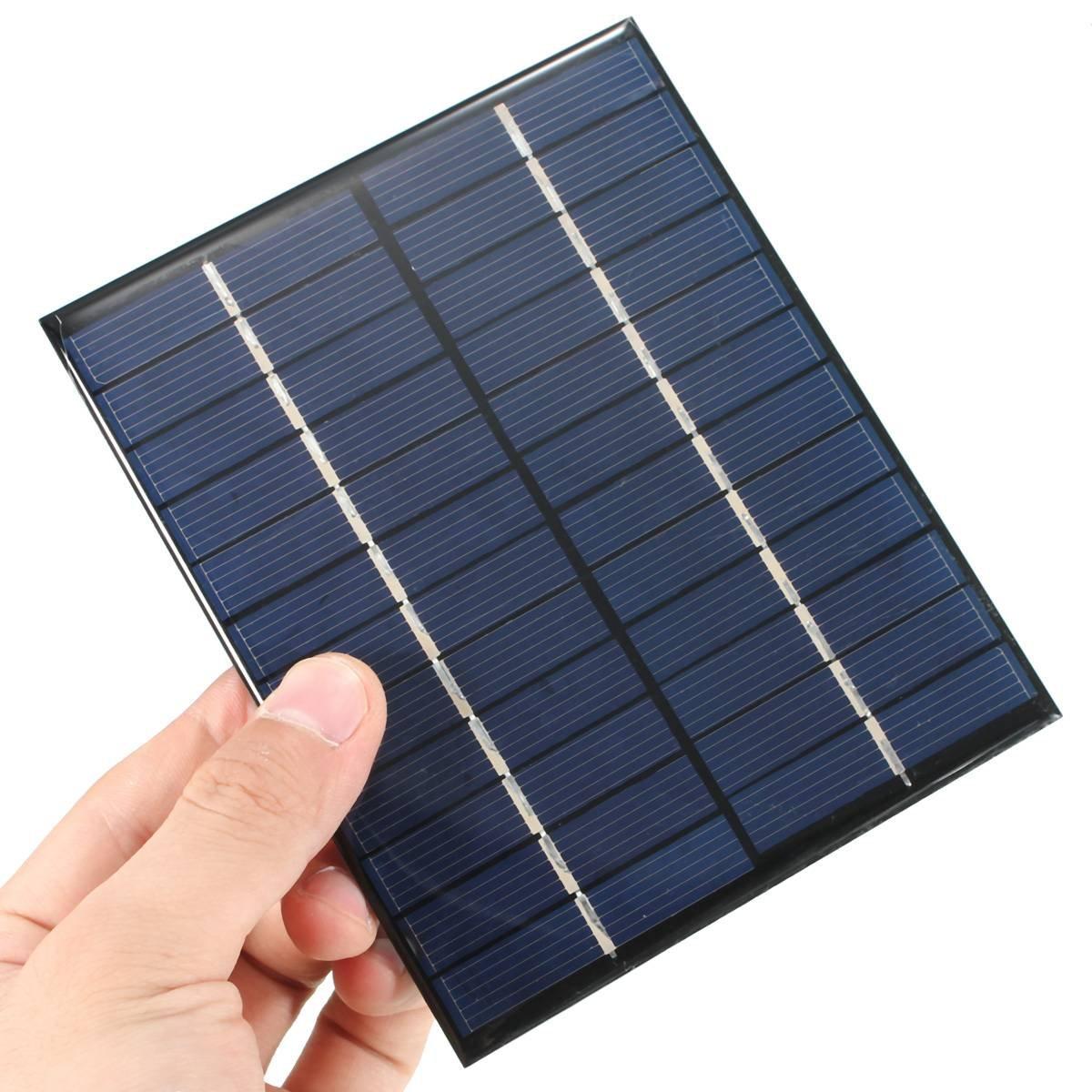 CAMTOA® 2W 12V 520mA pannello solare piccolo modulo cellula PV per Kit di bricolage solari caricatore