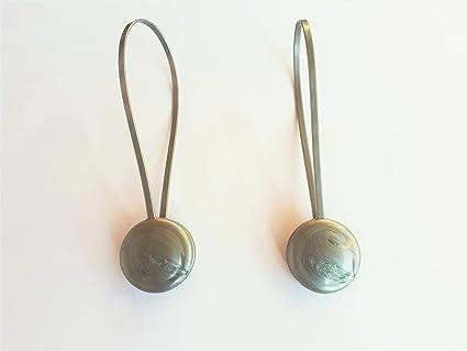 Coppia di calamite per tende argento: amazon.it: casa e cucina