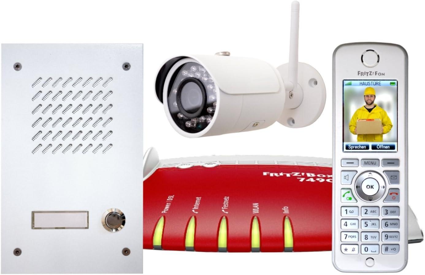 L Tek Full Hd Ip Kamera Lc30 Für Fritzbox 3mp Wifi Aussenkamera Haustür Überwachung Elektronik
