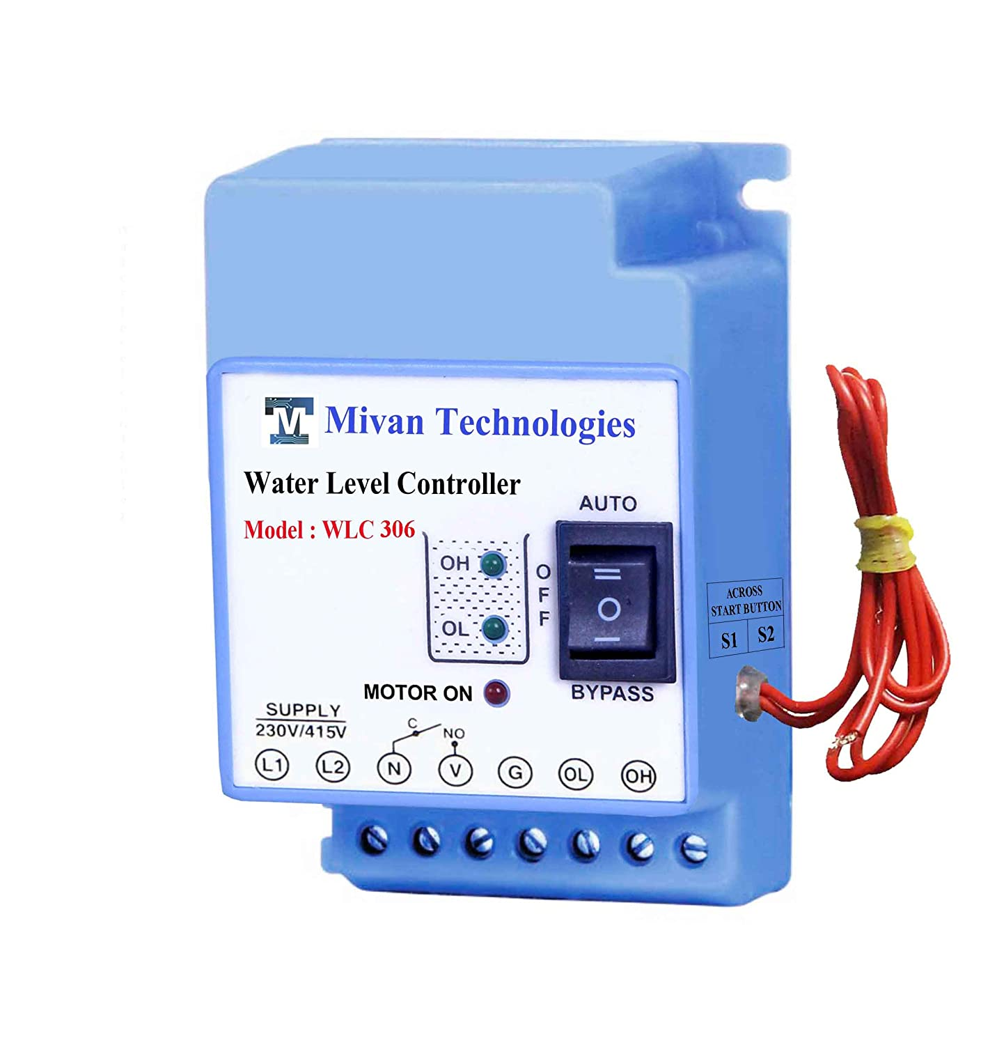 Buy Mivan Technologies 3 Phase Fully Automatic Water Level Wiring Diagram 230v Pump Fusion Controller Blue Online At Low Prices In India