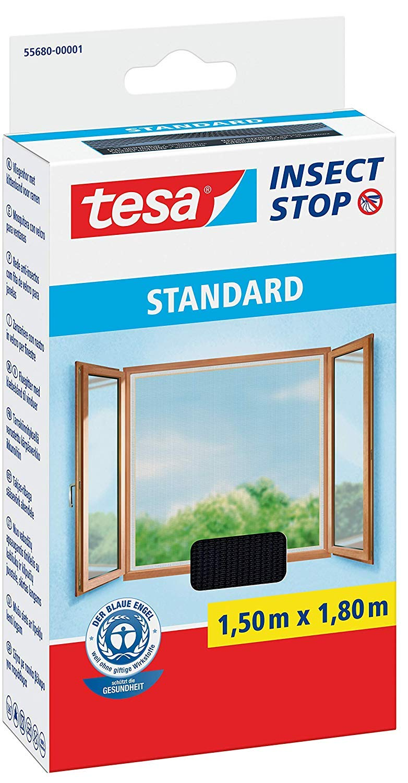+ 1 Loopschal tesa Leichter Sichtschutz tesa Insect Stop STANDARD Fliegengitter f/ür Fenster 1,3m:1,5m Wei/ß 5er Pack