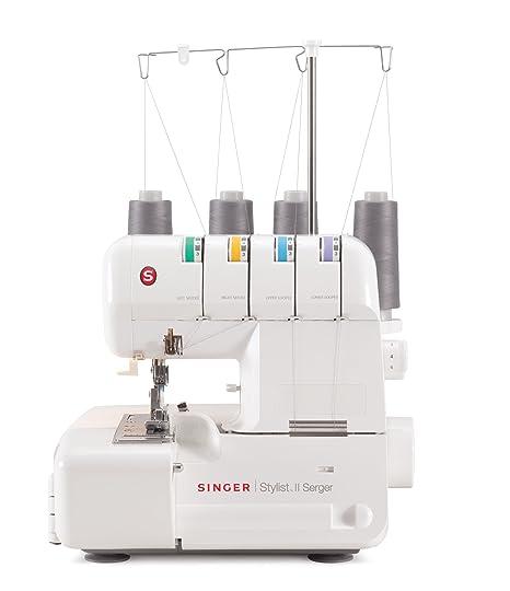 SINGER Stylist II - Máquina de coser (Máquina de coser automática, Blanco, Costura