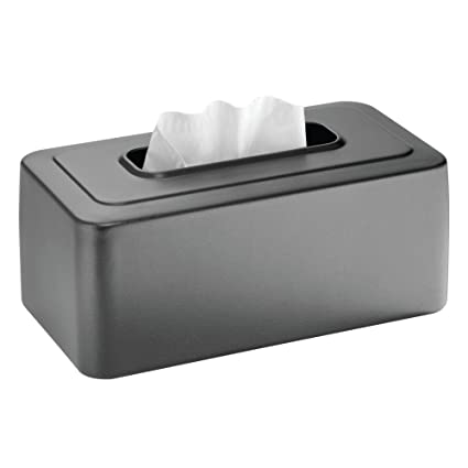 mDesign Caja para pañuelos de papel recargable – Práctica funda para caja de pañuelos de papel
