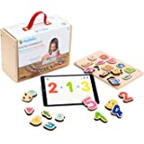 Marbotic - Deluxe Learning Kit for iPad - Ages 3-5 - Interactive Wooden Numbers and Letters Set - Hands-on Educational Learni