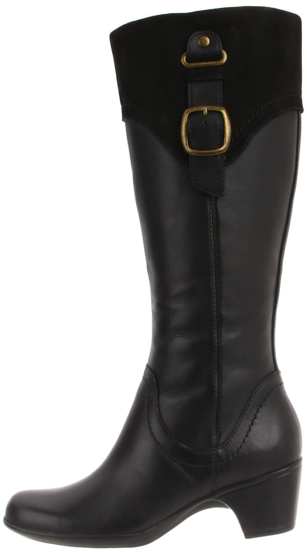 Amazon.com   Clarks Women's Ingalls Delaware Boot, Black, 5.5 M US    Knee-High
