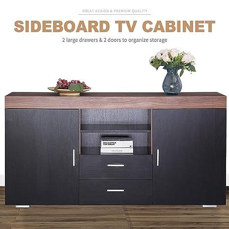 Amazon.com: Mecor Kitchen Storage Sideboard Table Cabinet ...