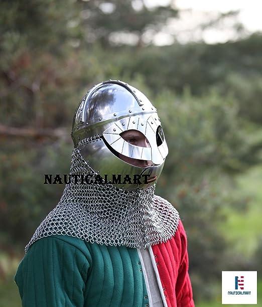 NAUTICALMART Plate Armour SCA Viking Helmet