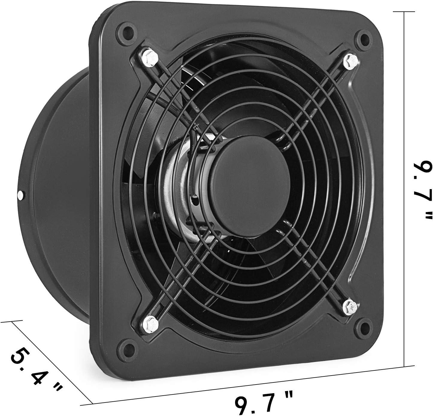 Mophorn 250MM Ventilador de Escape Extractor de Aire Ventilador de ...
