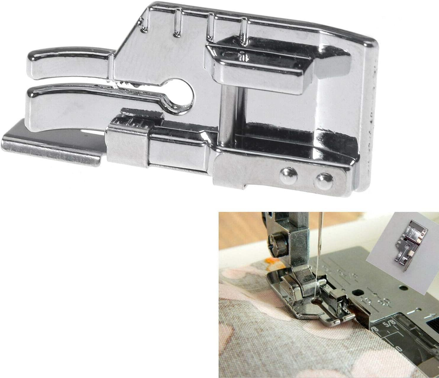 "#SA185 Snap on1//4/"" Quilting sewing machine presser foot with edge guide"
