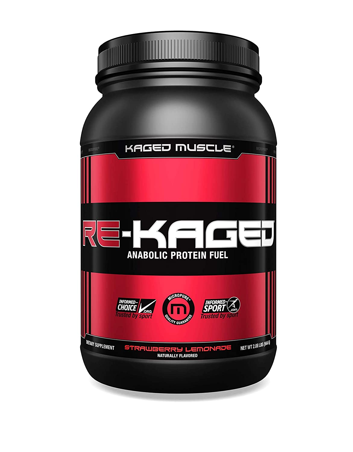 f7fe7e02f Amazon.com: KAGED MUSCLE, RE-KAGED Whey Protein Powder, Whey, Strawberry  Lemonade, Post Workout Recovery, BCAA's, EAA's, Creatine HCl, Glutamine,  Betaine, ...