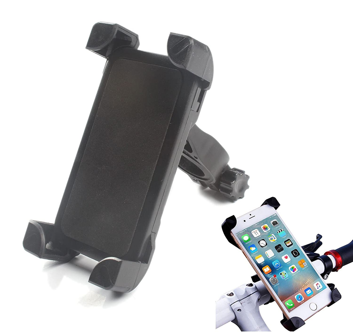 ANFTOP Mobile Phone Holder Bike Mount Cell Phone Holder Bicycle Handle Bars for iPhone Android Smartphone s6 Edge X 5 6 6s 7 8 s8 Plus and GPS Device Universal kit 4351520038