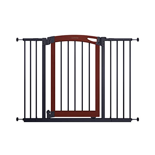 Summer Essex Craft Safety Baby Gate, Solid Wood Cherry Stain Arched Doorway with Charcoal Gray Metal Frame 30 Tall, Fits Openings up to 28 to 42 Wide, Baby and Pet Gate for Doorways and Stairways