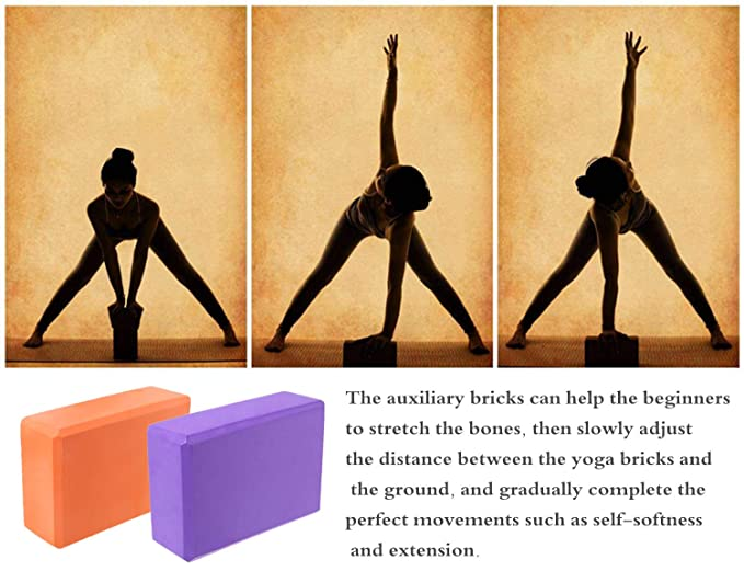 Amazon.com : MEYZEZE High Density Cork Wood Yoga Block Prop ...