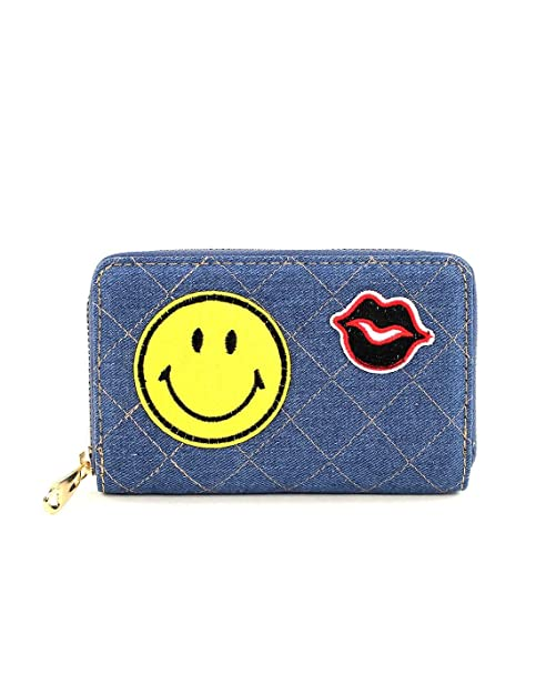 For Time WHV1010, Cartera monedero Emoji Pequeña Unisex ...