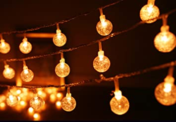 Keeda crystal globe ball string lights 10 1 m 10 m 100led bubble