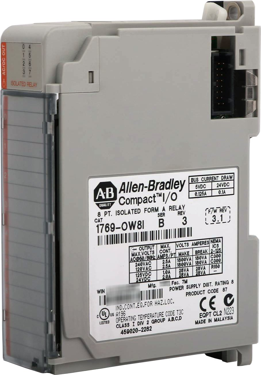 Allen Bradley 1769 Ow8i Compact I O Relay Output Module 8 Point Power Malaysia Vac Vdc Individually Isolated Industrial Scientific