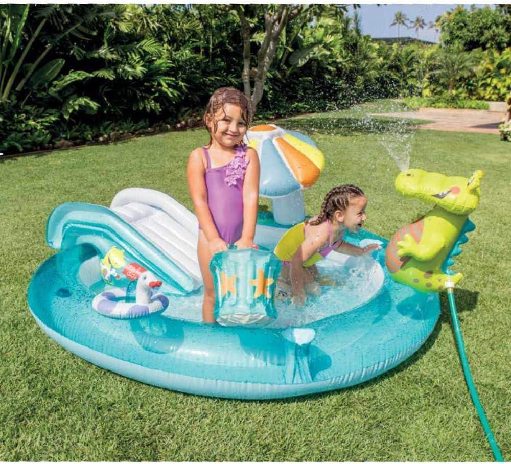 Yukie El Uso Personal tobogán de la Piscina Hinchable para niños Fuera de cocodrilo Parque acuático con la Cobertura de rociado de Equipos de Juego Suave