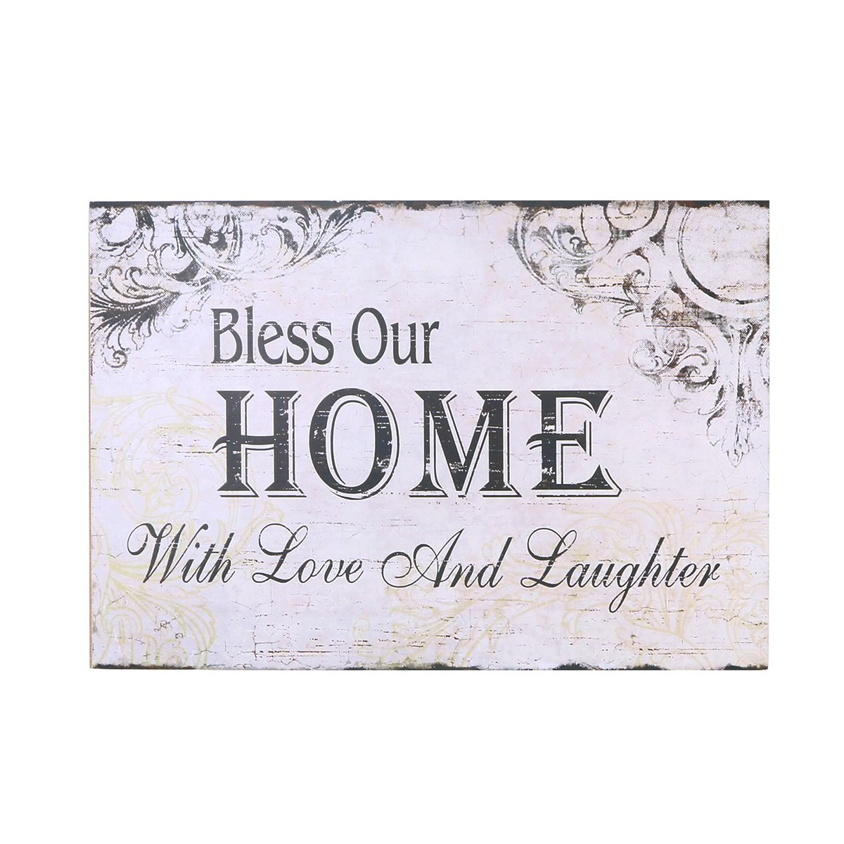 Bless Our Home VORCOOL Decorative Wood Wall Hanging Sign Plaque for Home Decor