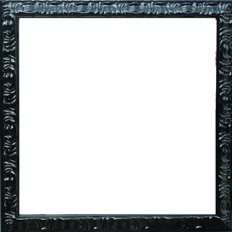 G 604 Barock- Massivholzrahmen 20x51 cm 51x20 cm Farbwahl: hier Schwarz-lackiert
