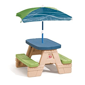 Wonderful Step2 Sit And Play Kids Picnic Table With Umbrella Awesome Ideas